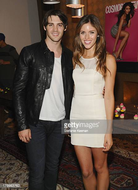 Actors Steven R McQueen and Kayla Ewell attend Cosmopolitan's Summer Bash at Palihouse on August 10 2013 in West Hollywood California