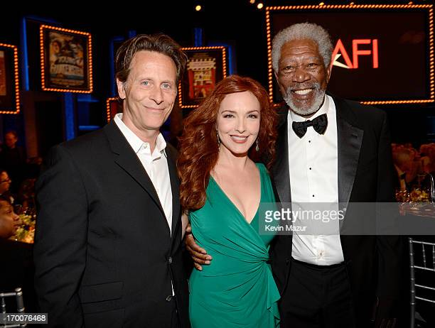 Actors Steven Weber Amy Yasbeck and Morgan Freeman attend AFI's 41st Life Achievement Award Tribute to Mel Brooks at Dolby Theatre on June 6 2013 in...