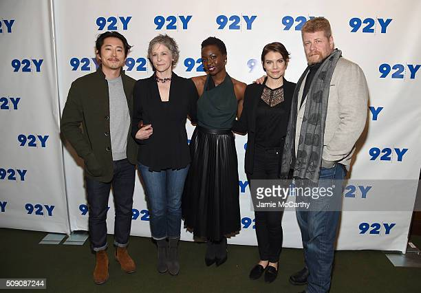 Actors Steven Yeun Melissa McBride Danai Gurira Lauren Cohan and Michael Cudlitz attend The Walking Dead Screening and Conversation at the 92nd St Y...