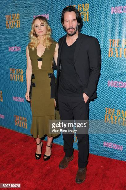Actors Suki Waterhouse and Keanu Reeves attend Premiere Of Neon's 'The Bad Batch' at Resident on June 19 2017 in Los Angeles California