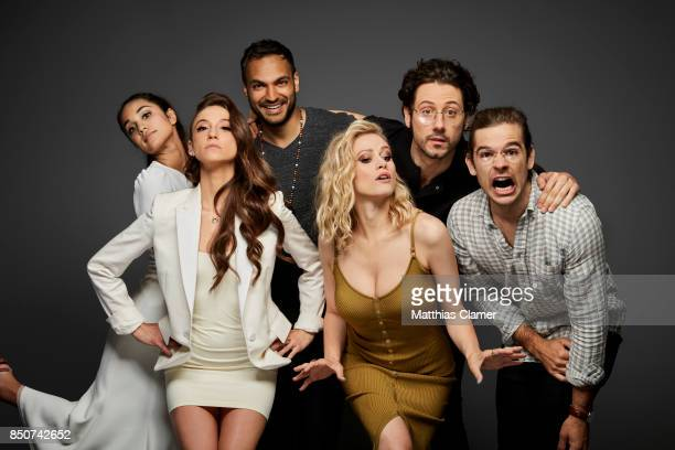 Actors Summer Bishil Stella Maeve Arjun Gupta Olivia Taylor Dudley Hale Appleman and Jason Ralph from The Magicians are photographed for...