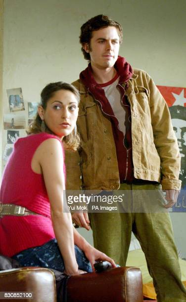 Actors Summer Phoenix and Casey Affleck during rehearsals for the second cast of the play 'This is our Youth' at the Garrick Theatre in Charing Cross...