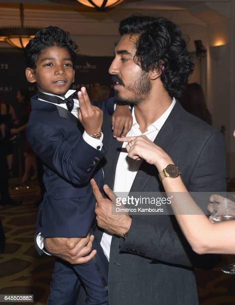 Actors Sunny Pawar and Dev Patel attend The Weinstein Company's PreOscar Dinner in partnership with Bvlgari and Grey Goose at Montage Beverly Hills...