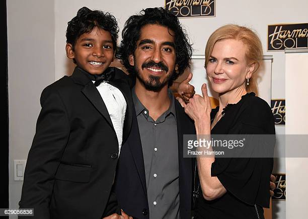 Actors Sunny Pawar Dev Patel Nicole Kidman attend Australians In Film Presents 'Lion' Screening and QA at Harmony Gold Theatre on December 10 2016 in...