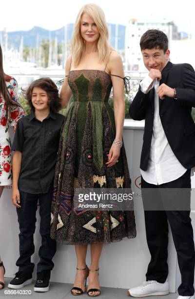 Actors Sunny Suljic Nicole Kidman and Barry Keoghan attend the 'The Killing Of A Sacred Deer' photocall during the 70th annual Cannes Film Festival...