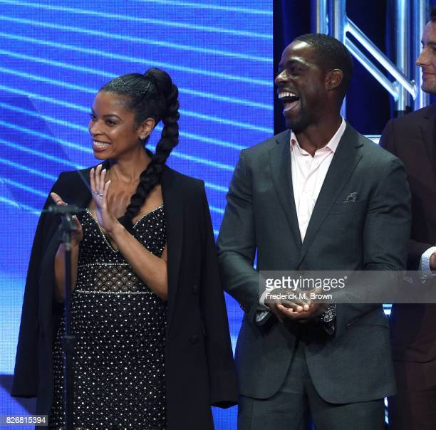 Actors Susan Kelechi Watson and Sterling K Brown accept the award for 'Outstanding New Program' for 'This Is Us' onstage at the 33rd Annual...