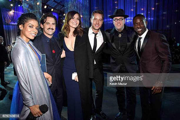 Actors Susan Kelechi Watson Milo Ventimiglia Mandy Moore Justin Hartley Chris Sullivan and Sterling K Brown attend The 22nd Annual Critics' Choice...