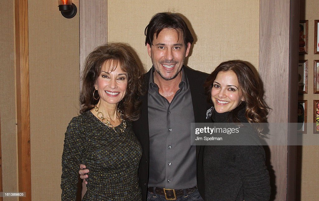 Actors <a gi-track='captionPersonalityLinkClicked' href=/galleries/search?phrase=Susan+Lucci&family=editorial&specificpeople=203010 ng-click='$event.stopPropagation()'>Susan Lucci</a>, <a gi-track='captionPersonalityLinkClicked' href=/galleries/search?phrase=Ricky+Paull+Goldin&family=editorial&specificpeople=213920 ng-click='$event.stopPropagation()'>Ricky Paull Goldin</a> and <a gi-track='captionPersonalityLinkClicked' href=/galleries/search?phrase=Rebecca+Budig&family=editorial&specificpeople=206682 ng-click='$event.stopPropagation()'>Rebecca Budig</a> attend the 'Spontaneous Construction' premiere at Guy?s American Kitchen & Bar on February 10, 2013 in New York City.