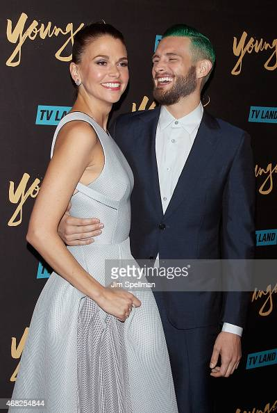 Actors Sutton Foster and Nico Tortorella attend the premiere of TV Land's 'Younger' at Landmark's Sunshine Cinema on March 31 2015 in New York City