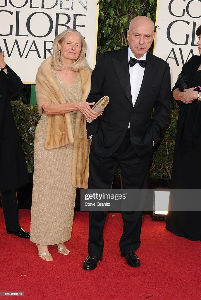 Actors Suzanne Newlander Arkin and Alan Arkin arrive at the 70th Annual Golden Globe Awards held at The Beverly Hilton Hotel on January 13, 2013 in Beverly Hills, California.