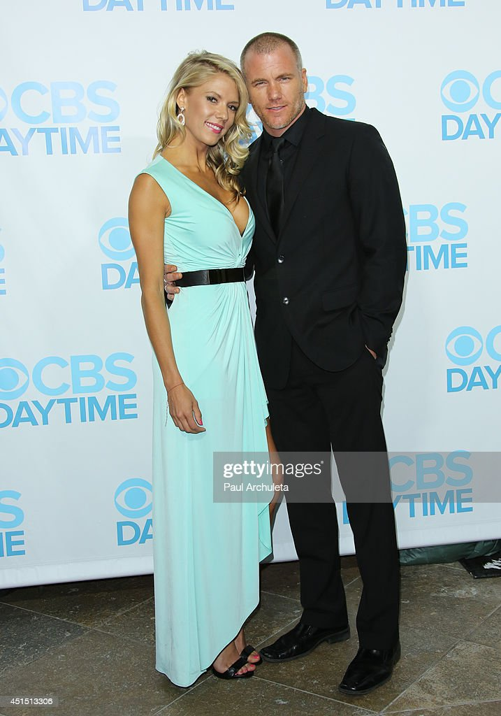 Actors Suzanne Quast (L) and Sean Carrigan (R) attend the 41st Annual Daytime Emmy Awards CBS after party at The Beverly Hilton Hotel on June 22, 2014 in Beverly Hills, California.