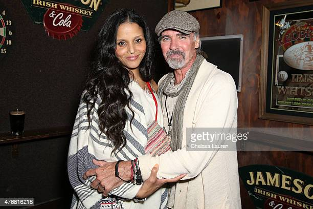 Actors Sydney Tamiia Poitier and Jeff Fahey attend the 'Too Late' premiere after party for the 2015 Los Angeles Film Festival at Molly Malones Irish...