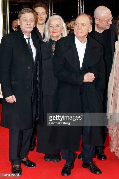 Actors Sylvester Groth Alexander Fehling Hildegard Schmahl Bruno Ganz and director Matti Geschonneck attend the 'In Times of Fading Light' premiere...