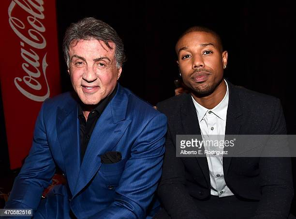 "Actors Sylvester Stallone and Michael B Jordan attend Warner Bros Pictures Invites You to ""The Big Picture"" an Exclusive Presentation Highlighting..."