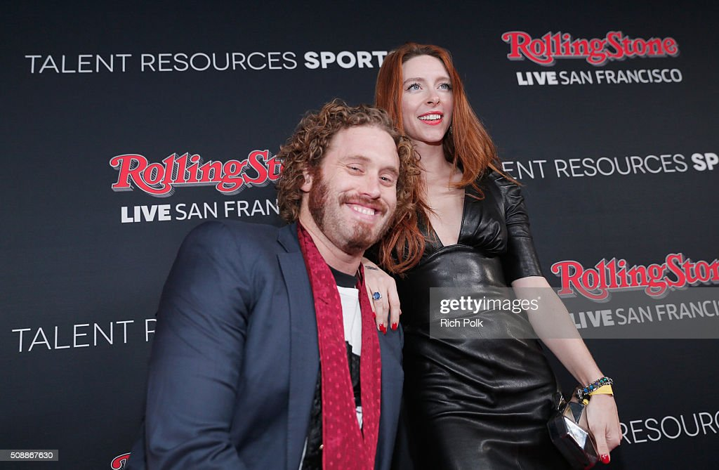 Actors T. J. Miller (L) and <a gi-track='captionPersonalityLinkClicked' href=/galleries/search?phrase=Kate+Gorney&family=editorial&specificpeople=12685804 ng-click='$event.stopPropagation()'>Kate Gorney</a> attend Rolling Stone Live SF with Talent Resources on February 7, 2016 in San Francisco, California.