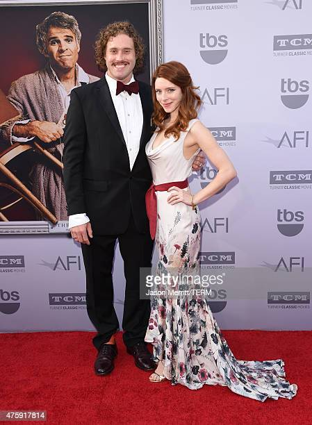 Actors T J Miller and Kate Gorney attend the 2015 AFI Life Achievement Award Gala Tribute Honoring Steve Martin at the Dolby Theatre on June 4 2015...