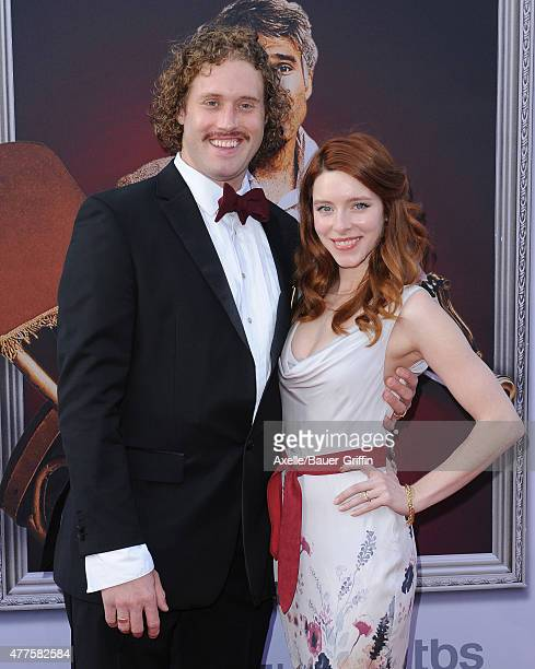 Actors T J Miller and Kate Gorney attend the 43rd AFI Life Achievement Award Gala at Dolby Theatre on June 4 2015 in Hollywood California