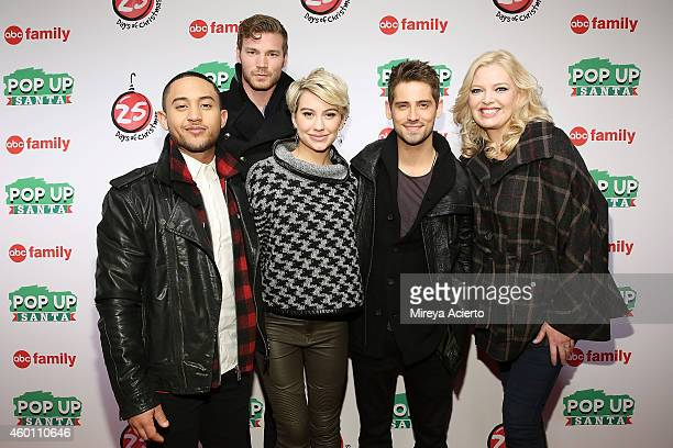 Actors Tahj Mowry Derek Theler Chelsea Kane JeanLuc Bilodeau and Melissa Peterman attend ABC's '25 Days Of Christmas' Celebration at Cucina at...