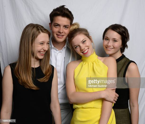 Actors Taissa Farmiga Israel Broussard Claire Julien and Katie Chang pose for a portrait at the Variety Studio at the 66th Annual Cannes Film...