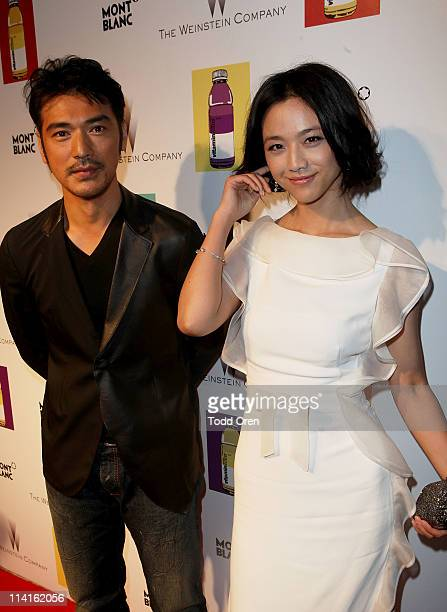 Actors Takeshi Kaneshiro and Wei Tang attend The Weinstein Co Celebrates 'I Don't Know How She Does It' Presented By vitaminwater at the Martinez...