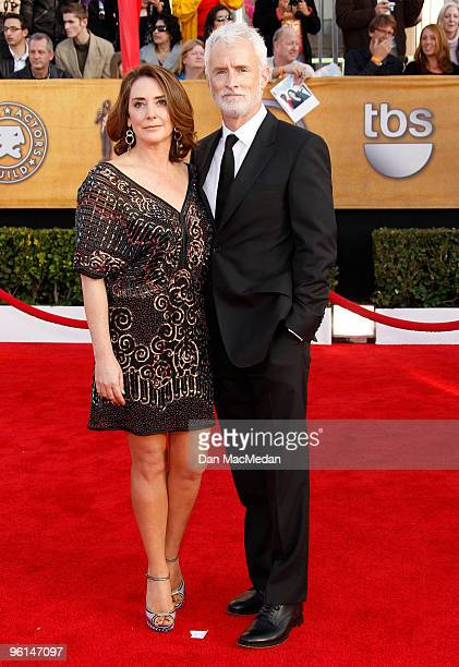 Actors Talia Balsam and John Slattery arrive at the 16th Annual Screen Actors Guild Awards held at the Shrine Auditorium on January 23 2010 in Los...
