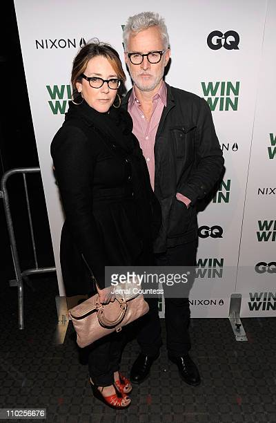 Actors Talia Balsam and John Slattery attend a screening of 'Win Win' at the SVA Theater on March 16 2011 in New York City