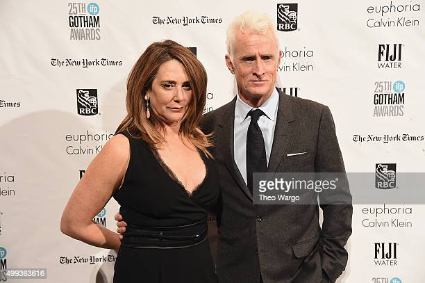 Actors Talia Balsam and John Slattery attend the 25th Annual Gotham Independent Film Awards at Cipriani Wall Street on November 30 2015 in New York...