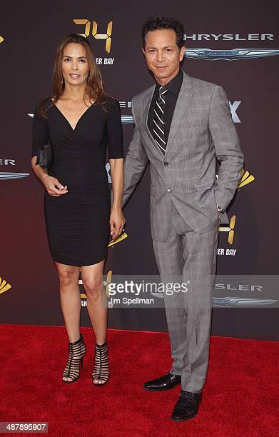 Actors Talisa Soto and Benjamin Bratt attend '24 Live Another Day' World Premiere at Intrepid Sea on May 2 2014 in New York City