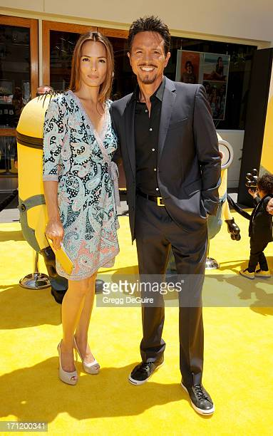 Actors Talisa Soto and husband Benjamin Bratt arrive at the Los Angeles premiere of 'Despicable Me 2' at Universal CityWalk on June 22 2013 in...