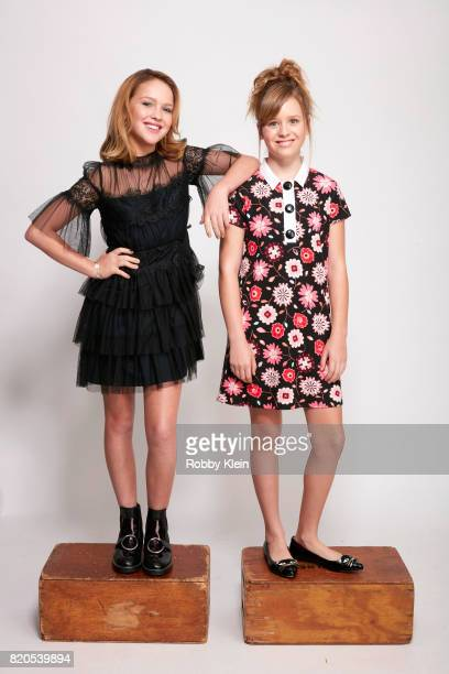 Actors Talitha Bateman and Lulu Wilson from the Warner Bros Pictures film 'Annabelle Creation' pose for a portrait during ComicCon 2017 at Hard Rock...