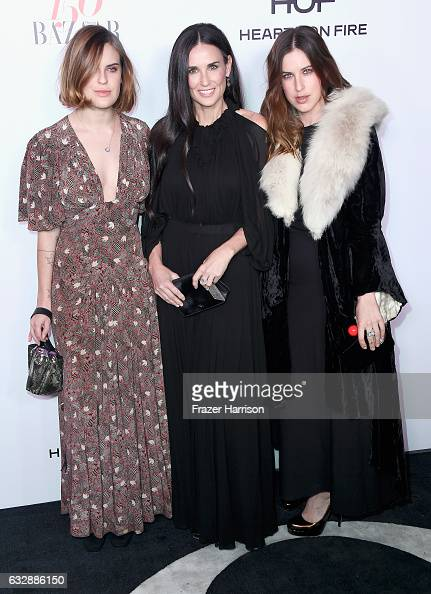 Actors Tallulah Belle Willis Demi Moore and Scout Willis Harper's Bazaar Celebrates 150 Most Fashionable Women at Sunset Tower Hotel on January 27...
