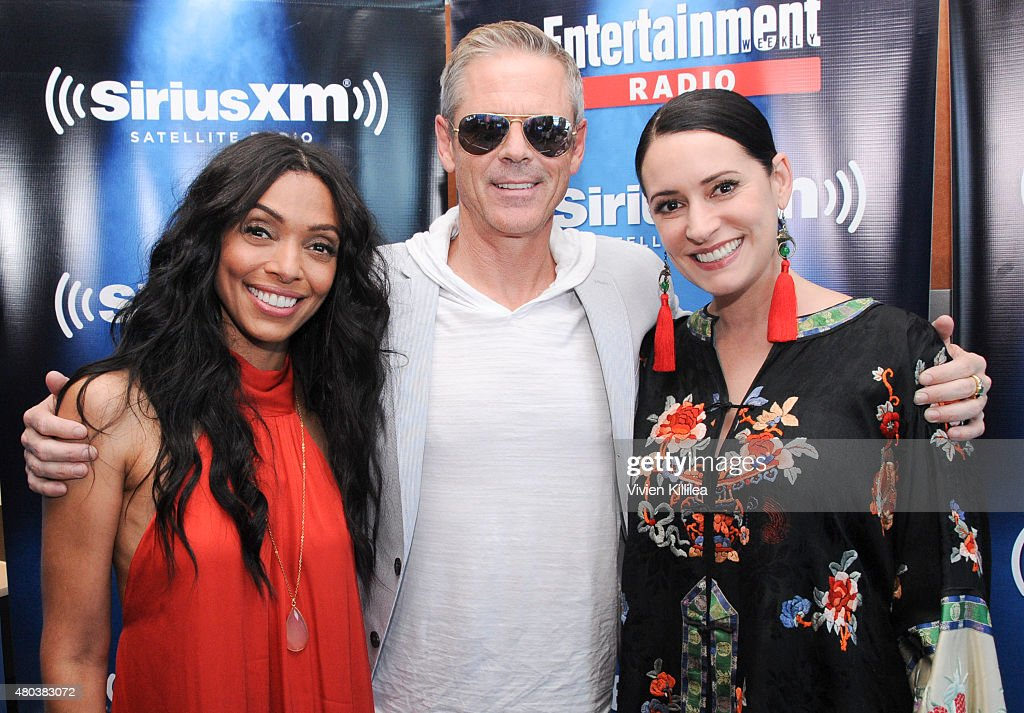 Actors Tamara Taylor, C. Thomas Howell and Paget Brewster attend SiriusXM's Entertainment Weekly Radio Channel Broadcasts From Comic-Con 2015 at Hard Rock Hotel San Diego on July 10, 2015 in San Diego, California.
