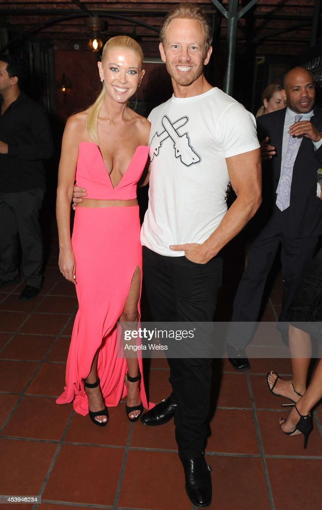 Actors Tara Reid and Ian Ziering attend the premiere after party of The Asylum Fathom Events' 'Sharknado 2 The Second One' at Figueroa Hotel on...