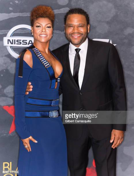 Actors Taraji P Henson and Anthony Anderson attend Black Girls Rock 2017 at New Jersey Performing Arts Center on August 5 2017 in Newark New Jersey