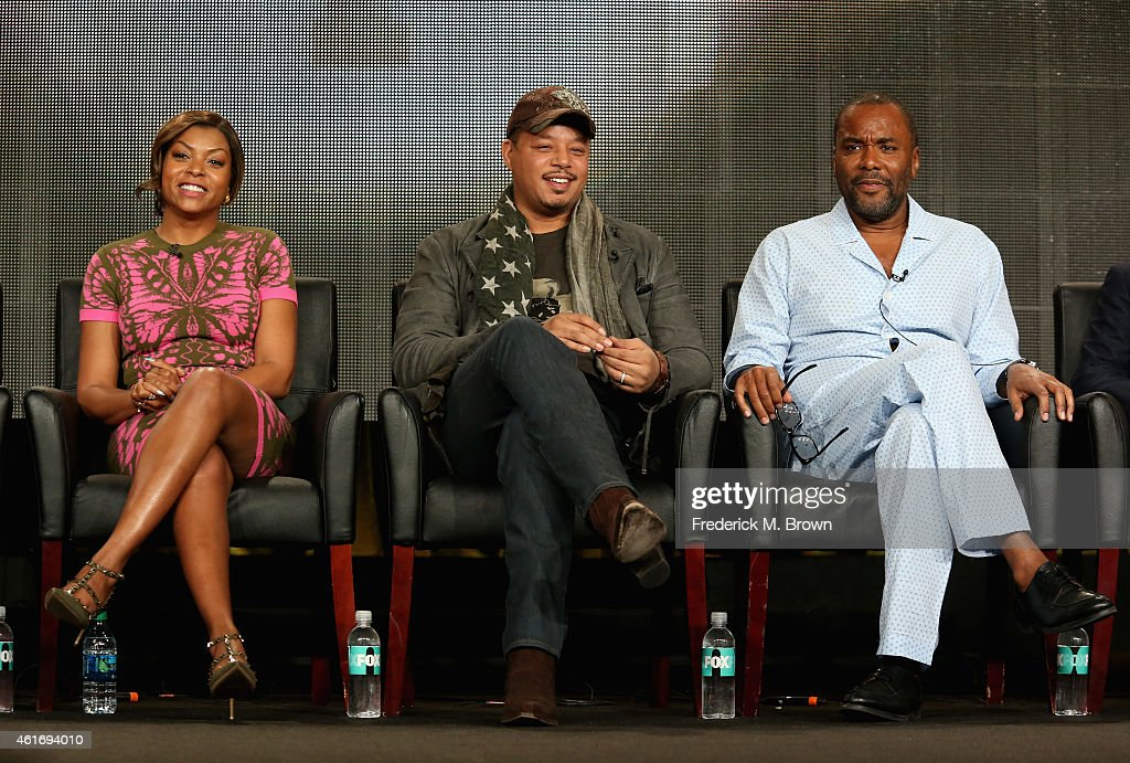 Actors Taraji P Henson Terrence Howard and creator/writer/executive producer Lee Daniels speak onstage during the 'Empire' panel discussion at the...