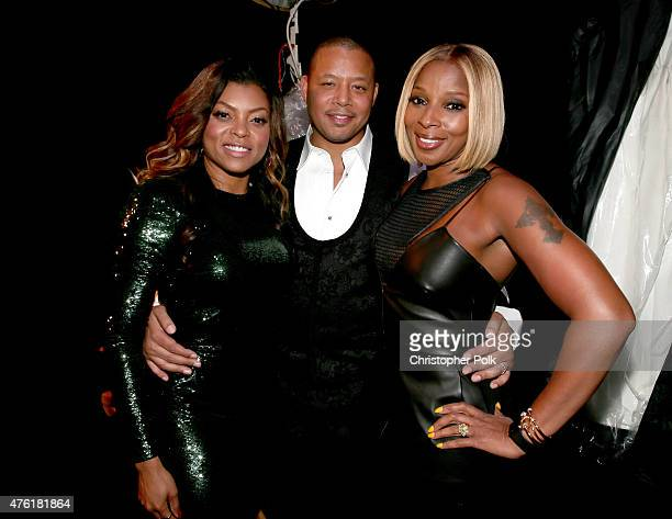 Actors Taraji P Henson Terrence Howard and singer Mary J Blige attend Spike TV's Guys Choice 2015 at Sony Pictures Studios on June 6 2015 in Culver...