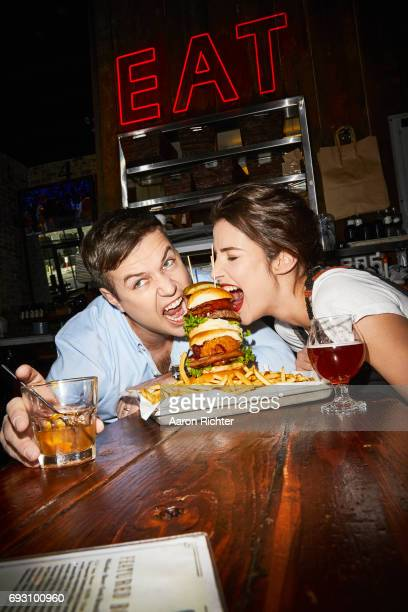 Actors Taran Killam and Cobie Smulders are photographed for Entertainment Weekly Magazine on March 3 2017 at Clinton Hall in New York City PUBLISHED...