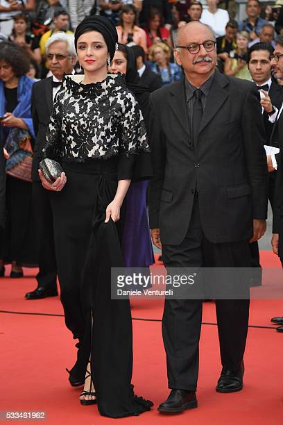 Actors Taraneh Alidoosti and Babak Karimi attend the closing ceremony of the 69th annual Cannes Film Festival at the Palais des Festivals on May 22...