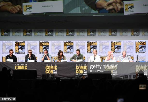 Actors Taron Egerton Colin Firth Channing Tatum Halle Berry Pedro Pascal and Jeff Bridges screenwriter Jane Goldman and writer/executive producer...
