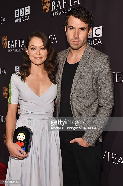 Actors Tatiana Maslany and Tom Cullen attend the 2015 BAFTA Los Angeles TV Tea at SLS Hotel on September 19 2015 in Beverly Hills California