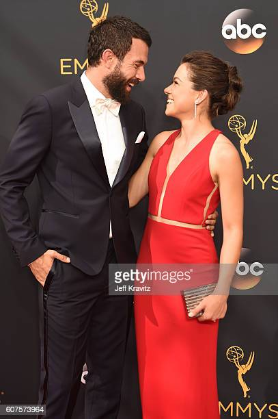 Actors Tatiana Maslany and Tom Cullen attend the 68th Annual Primetime Emmy Awards at Microsoft Theater on September 18 2016 in Los Angeles California