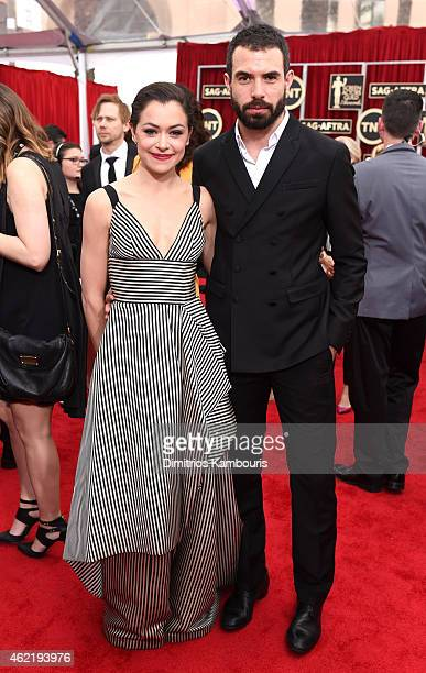 Actors Tatiana Maslany and Tom Cullen attend TNT's 21st Annual Screen Actors Guild Awards at The Shrine Auditorium on January 25 2015 in Los Angeles...