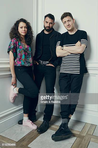 Actors Tatiana Maslany Tom Cullen and writer/director Joey Klein of 'The Other Half' are photographed in the Getty Images SXSW Portrait Studio...