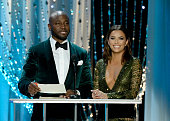 Actors Taye Diggs and Eva Longoria speak onstage during the 22nd Annual Screen Actors Guild Awards at The Shrine Auditorium on January 30 2016 in Los...
