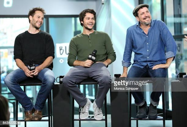 Actors Taylor Kitsch and Dylan O'Brien and director Michael Cuesta discuss their new movie 'American Assassin' at Build Studio on September 6 2017 in...