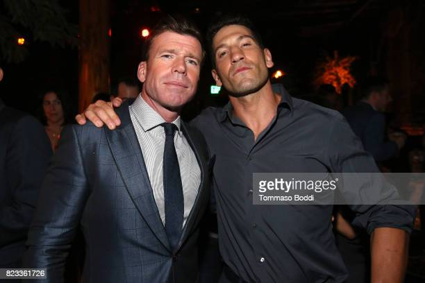 Actors Taylor Sheridan and Jon Bernthal attend the after party for 'Wind River' Los Angeles Premiere presented in partnership with FIJI Water at...