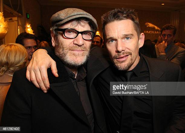 Actors Tcheky Kary and Ethan Hawke attend the BAFTA Los Angeeles Tea Party at The Four Seasons Hotel Los Angeles At Beverly Hills on January 10 2015...