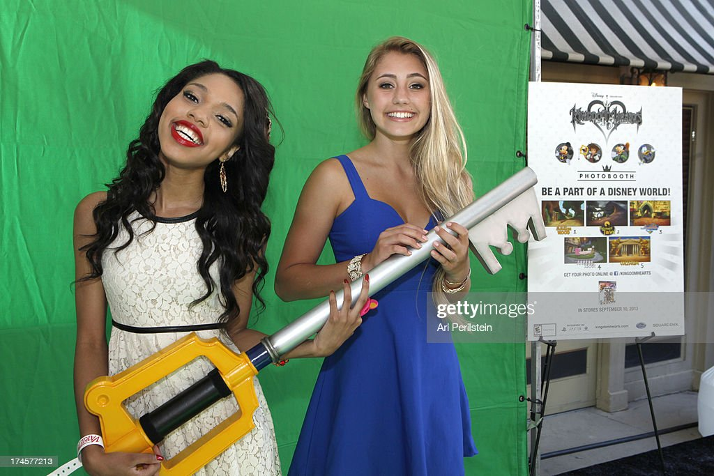 Actors Teala Dunn (L) and Lia Marie Johnson attend Variety's Power of Youth presented by Hasbro, Inc. and generationOn at Universal Studios Backlot on July 27, 2013 in Universal City, California.