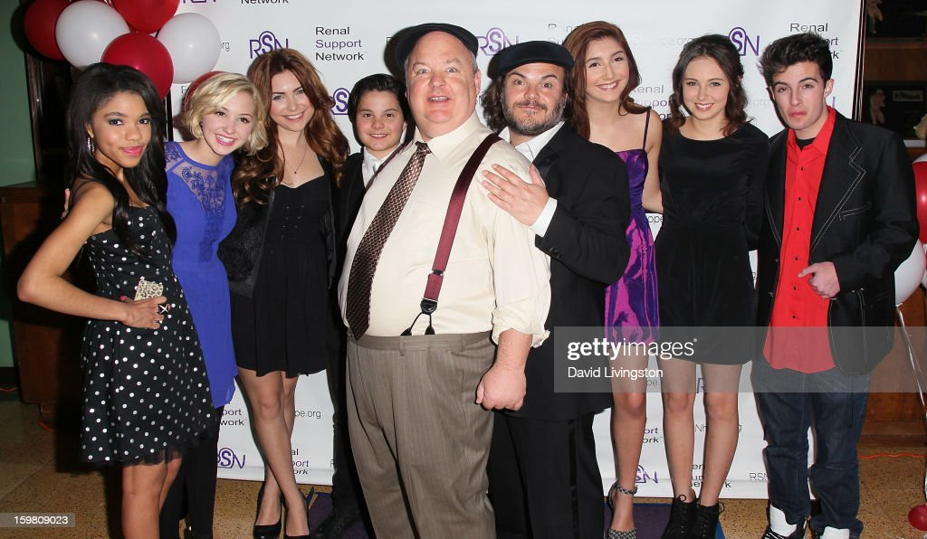 Actors Teala Dunn, Audrey Whitby, Julianna Rose, Zach Callison, Kyle Gass, Jack Black, Jennessa Rose, Temara Melek and Nolan Ammon attend the 14th Annual RSN's Renal Teen Prom at Notre Dame High School on January 20, 2013 in Sherman Oaks, California.