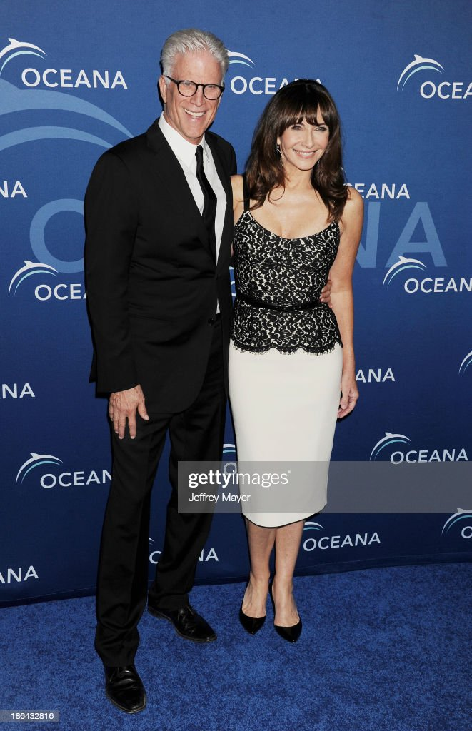Actors Ted Danson (L) and Mary Steenburgen arrive at the Oceana Partners Award Gala With Former Secretary Of State Hillary Rodham Clinton and HBO CEO Richard Plepler at Regent Beverly Wilshire Hotel on October 30, 2013 in Beverly Hills, California.
